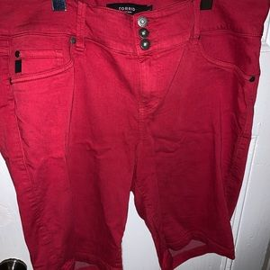 Torrid red Bermuda shorts size 20
